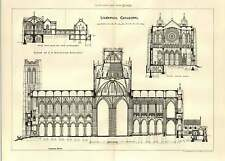 1903 Liverpool Cathedral Design C A Nicholson Chapterhouse Library Practice Room