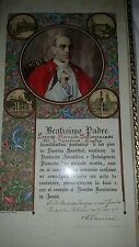 VERY RARE Pope Pius XII Apostolic Blessing 1951 Signed, Sealed Hand Calligraphy