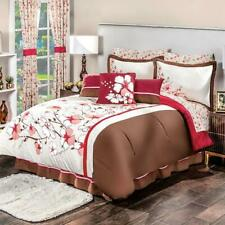 Red blossom Comforter Reversible And Sheet set Queen Size perfect decoration