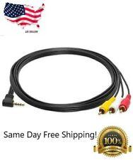 6Ft Mini AV 3.5mm 1/8' 4 pole plug to 3 RCA plugs cable
