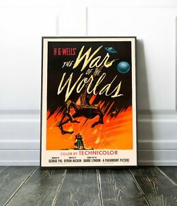War of the Worlds Poster | Vintage film Art print | Size: 42 x 29.7 cm (A3)
