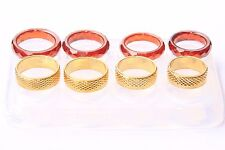 Clear silicone Ring mold.Faceted size 6,7.5,8,9.Gold-(7)(8)(9.5)(9.75)    (Z-23)