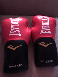 Everlast Pro Style Elite Workout Xl Training Boxing Gloves Size 16 Oz. Red Ln