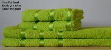 Egyptian Cotton Ribbon Towel Set - Hand Towel & Bath Towel - Fern Green