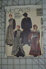 McCalls 4229 sewing pattern, womens pioneer costume dress & apron, size M 14-16