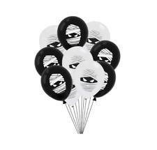 "12 Pack Premium Mummy Balloons 12"" Spooky Halloween Party Theme Egypt Decor"