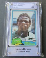 1981 TOPPS RICKEY HENDERSON BASEBALL CARD #261, GRADED 10 GEM MINT! SECOND YEAR!