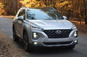 For Hyundai Santa 2019-2020 Smoke color  Window Visor Guard Vent Deflector