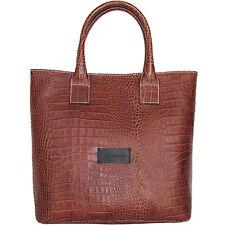 Pierre Balmain shopper tote bag handbag crocodile print leather tasche $470