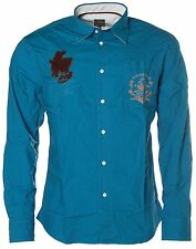 K3051 KITARO Langarm Freizeithemd Hemd Blau M NEU