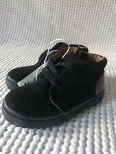 Cat & Jack Toddler Boys Axel Black Sneakers Lace up Size 6