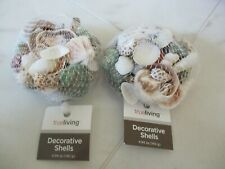 2X Assorted Net Bag Of Mixed Sea Shells Decor Crafts Home Display Wedding
