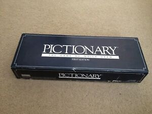 Vintage 1988 First Edition PICTIONARY Board Game of Quick Draw