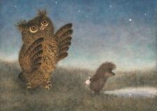 Hedgehog in the Fog Y.Norstein's /Norshteyn hand-signed Giclée (Owl Walking)