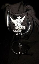 Engraved Tinkerbell Wine Glass - New - Personalised