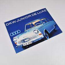 DKW Junior de Luxe - Auto Union - alter Prospekt - Faltblatt - Vintage Brochure