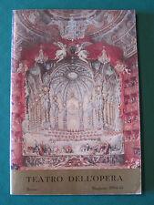 """TEATRO DELL'OPERA ROMA STAGIONE 1964-65 """"IL PIPISTRELLO"""" DI JOHANN STRAUSS JR."""