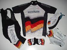 New size L - GERMANY DEUTSCHLAND Team Cycling Flag Bike Set Jersey Bib Shorts +