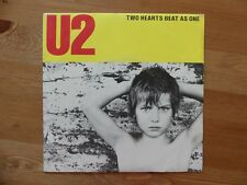 """U2 - Two Hearts Beat as One - FRENCH FRANCE Yellow Cover Vinyl 7"""" 45T 814 653-7"""