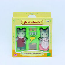 Sylvanian Families Calico Critters Supermarket Owners Grey Cat Mother & Father