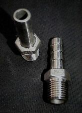 """HB025037 STAINLESS STEEL HOSE BARB 1/4"""" NPT PIPE - 3/8"""" HOSE"""
