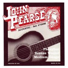 John Pearse 700M ACOUSTIC GUITAR STRINGS Medium Gauge. Phosphor Bronze. 13-56