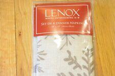 "Lenox Set Of 4 Dinner Napkins 19 x 19"""