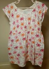 Old Navy Kids Short Sleeve Shirt Size XL 100% Cotton White Floral Shirt