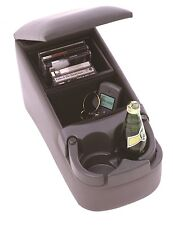 Bench Seat Console Truck Center Cup Holder Charcoal CD's Cell Phone Coin Storage