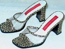 Gloria Vanderbilt Cheetah Print Sandals/Heels-size 5.5 M  Great Quality-EUC!