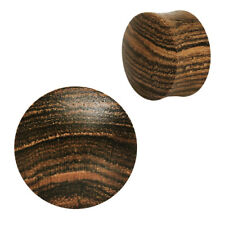 """Natural Organic Rosewood Wood Plug Plugs Sold As a Pair (Sizes 4GA to 1"""") E541"""