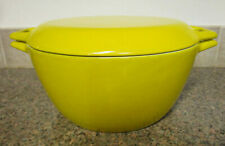 Copco Denmark D3 Yellow 4 Qt. Dutch Oven Or Cassereole With Lid