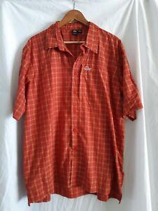 Lowe alpine orange check Shirt Size XL