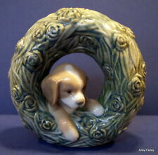 More details for beautiful lladro natural frames 'puppy'  - retired & in perfect condition #8071