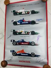 Indianapolis Indy 500 2003 HONDA Engines Poster DAN WHELDON.& MORE Hand Signed