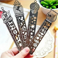 4 Colour Stainless Steel Pocket Rulers Metric Engraved Scale As Bookmark New JC