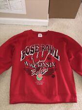 1994 Wisconsin Badgers Rose Bowl Champions Vintage Crewneck Sweatshirt L Ncaa