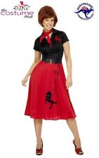 Red Rock and Roll 50's Poodle Swing Skirt Grease Rockabilly 12 - Plus Size 22