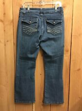 LEE Perfect Fit Just Below the Waist JEANS Sz 12 Petite Button Flap Pockets