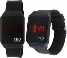 TKO Faceless Touch Screen LED Digital Black Rectangle Rubber Sports Watch TK662R
