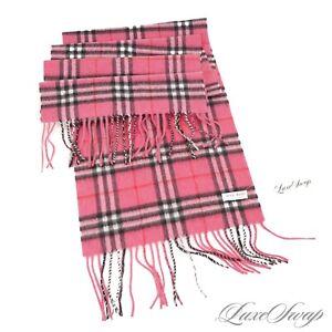 NWOT #1 MENSWEAR Luigi Baldo 100% Cashmere Pink Flannel Tartan Check Scarf NR