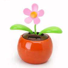 Solar Swing Flower ORANGE Car Dashboard Window Balcony Dancing Pot Plant