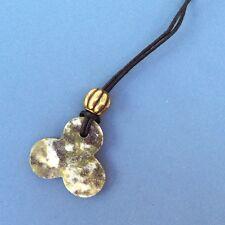Connemara marble gemstone shamrock pendant gold bead Irish made souvenir gift