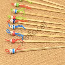 New Bamboo Doll Earpick Ear Remover Curette Cleaner Tool Ear Spoon Random 10 Pcs