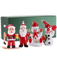 Set of 4 2'' Murano Christmas Winter Decorative Glass Figurine Set, Includes...