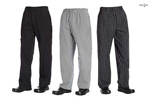 """Chef Code Baggy Chef Pants with Wide 2"""" Elastic Waist"""