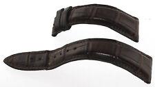 Ulysse Nardine Original 18mm Brown Crododile Pattern Geuine Leather Strap