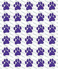 "30 Precut 1"" Purple Paw Prints Bottle Cap Image Set 1"