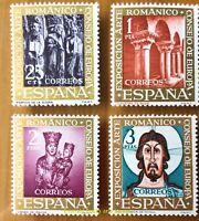 EBS Spain España 1961 Romanesque Art - Arte Románico 1260-1263 MNH**