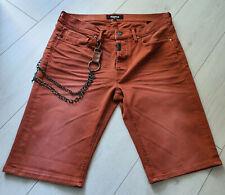 Tigha Herren Jeans Sommer Shorts Vintage Red Size 32